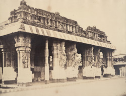 East front of the Puthu Mundapum [Pudu Mandapa, Minakshi Sundareshvara Temple, Madurai]